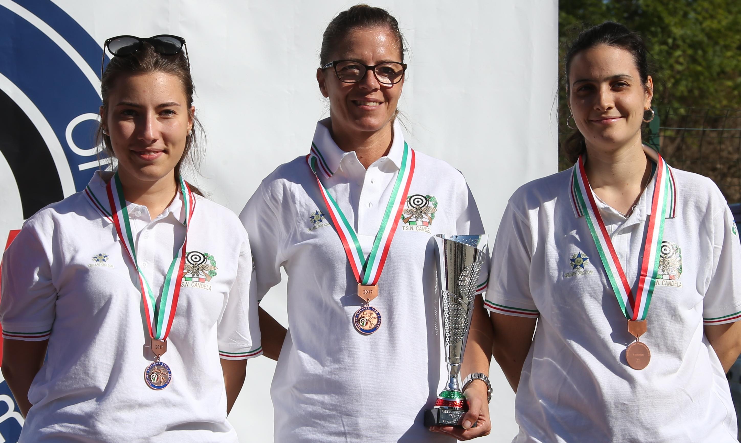 Campionati Italiani Senior 2017. Tre volte a podio la squadra di carabina Donne