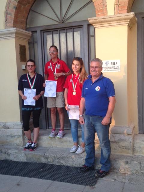 Finali Camp. Italiani 300 mt Colle Val d'Elsa 2016 Podio ALT D  1^ Class. Macali F. 3^ Class.  De Gasperis A.
