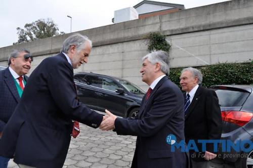 il benvenuto a Malagò di Caputo e del presidente Flamia